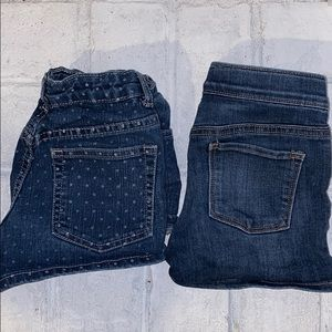 Lot of 2 Pairs of Girls Jean Shorts